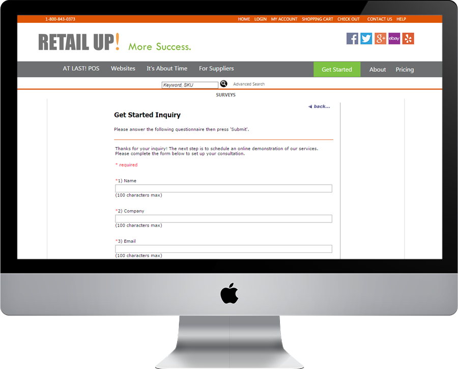 Retailup Get Started Inquiry